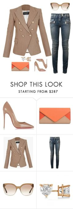 """""""Untitled #172"""" by scannedbyaaron ❤ liked on Polyvore featuring Christian Louboutin, Chloé, Balmain, Prada and Allurez"""