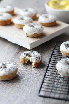 Lemon poppyseed mini donuts