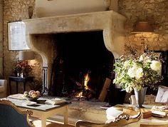 Verdigris Vie: European Escapes: La Bastide de Marie. Fantastic oversized antique fireplace