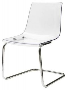 TOBIAS Chair  These acrylic chairs from Ikea are a totally affordable way to get the look.   IKEA
