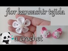 tutorial DiY comó hacer una flor kanzashir a crochet - YouTube