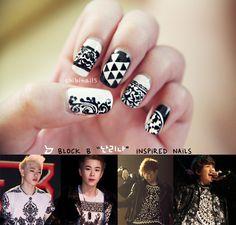 Kpop Nail Art Block B