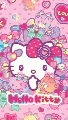 Hello Kitty Wallpaper Hello Kitty Wallpaper Hello Kitty with Hello Kitty Background Collection - All Cartoon Wallpapers Hello Kitty Iphone Wallpaper, Hello Kitty Backgrounds, Sanrio Wallpaper, Kawaii Wallpaper, Cartoon Wallpaper, Hello Kitty Art, Hello Kitty Themes, Sanrio Hello Kitty, Hello Kitty Pictures