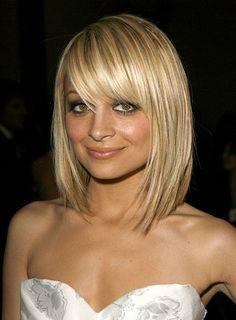 Cute cut with bangs for thin hair.