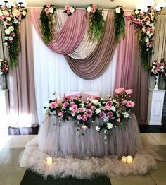 me ~ Double Extra Long Tutu Tull Table Skirt, Long Tulle Table Skirt, Tulle Tablecloth, Tutu tulle tablec Wedding Stage Decorations, Backdrop Decorations, Wedding Centerpieces, Wedding Table, Diy Wedding, Wedding Reception, Brunch Wedding, Trendy Wedding, Gold Backdrop