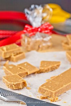 Vanilla Bean Tablet - this Scottish fudge makes a great Christmas gift