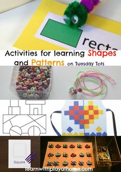 maths for kids, learning shapes, learning patterns, kids activities, playful maths