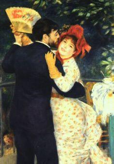 Pierre Auguste Renoir  Dance in the Country   1883 (30 Kb); Musee d'Orsay in Paris
