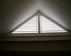 triangle window coverings | ... window shutters are classic wooden products which suit any window