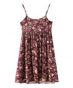 Suspender Print Dress