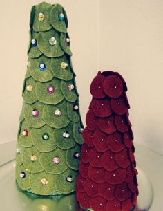 DIY Felt Christmas Tree : DIY Crafts: Felt Christmas Trees