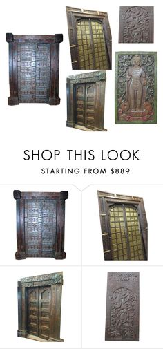 Antique Doors by era-chandok on Polyvore featuring interior, interiors, interior design, home, home decor, interior decorating, WALL, furniture, homedecor and door