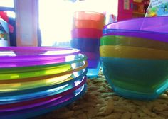 "Joel showed off some beautifully colored plastics for any summer event. ""We do it rainbow here in California."""