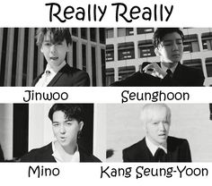 Really Really - Winner K Pop, Winner Kpop Members, Yg Entertaiment, Kang Seung Yoon, Seventeen Woozi, Nct Dream Jaemin, Jaehyun Nct, Bts Pictures, Bts Suga