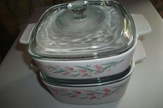 Pyrex Lids, Vintage Glassware, Food Storage, Baking Dishes, Cooking, Microwave, Casserole, Oven, Chips