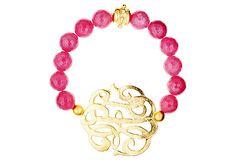 Pink Jade Nonogram Bracelet on OneKingsLane.com