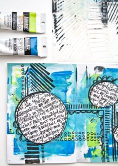 Cast your mind back to two weeks ago... I shared an art journal page video called 'Abstract Shapes Art Journal Page Tutorial', yeah, I know I REALLY need to work on my titles! Well in that video I men