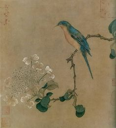 Unidentified Artist - Chinese painting from the Song dynasty Zen Painting, Japanese Painting, Chinese Painting, Japanese Bird, Art Chinois, Chinoiserie Wallpaper, Art Asiatique, Art Japonais, Korean Art