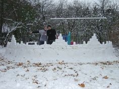 Our incredible snow fort when we lived in Buffalo, NY.
