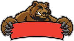 Urso pardo sinal - ilustração de arte vetorial