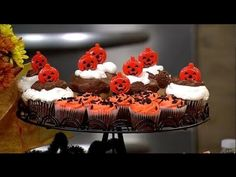▶ Halloween Desserts - YouTube  Melissa Johnson shares Halloween entertaining tips with 12 million viewers with Delta Faucets in Hollywood, California- including how to make a Left Over Halloween Candy Sugar Cookie Pizza and fun ways to decorate cupcakes.