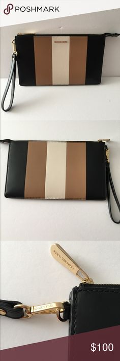 Michael Kors Clutch Tri Color, in pre loved condition. Gold hardware. Michael Kors Bags Clutches & Wristlets