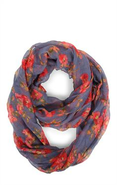 Deb Shops Light #Floral Print #Scarf