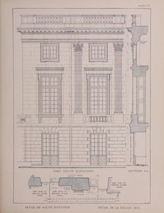 Year book of the Boston Architectural Club: The Petit Trianon. Plans, Architectural details - the whole book available online