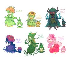 Lilligant crossbreeds by pekou on DeviantArt