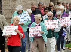 """""""Taking A Stand"""" - Protesters against the contraception mandate."""