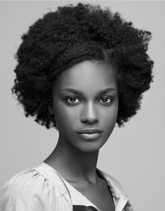 Beautiful woman, simple afro...love this..this is my texture...cant wait until i get to that length