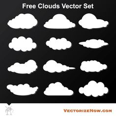Free Cloud Vector Graphics
