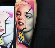Marilyn Monroe tattoo by Dave Paulo