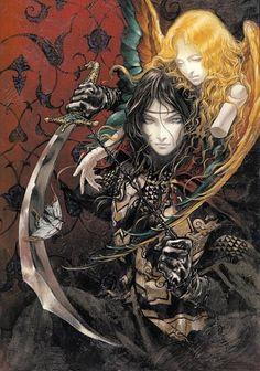 19 - Acrylic - p 115 - Castlevania Retrogaming Gothic Anime, Gothic Art, Castlevania Anime, Anime Sensual, Witch Art, Fantasy Kunst, Inspiration Art, High Fantasy, Fantasy Men