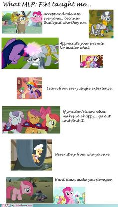 my little pony, friendship is magic, brony - WHAT I LEARNED ABOUT FRIENDSHIP IS.....