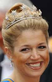 Tiara Mania: Star Button Tiara worn by Queen Maxima of the Netherlands