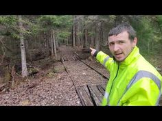 Massive Railroad 1,500' Trestle Deep In The Forest Of Maine 90 Yrs Abandoned - YouTube