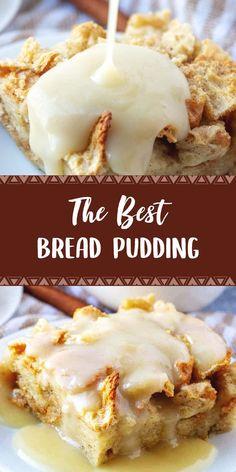 The Best Bread Pudding For Breakfast - Bread Recipes Breakfast Bread Puddings, Breakfast Bread Recipes, What's For Breakfast, Breakfast Items, Perfect Breakfast, Breakfast Dishes, Brunch Recipes, Dessert Recipes, Ham Recipes
