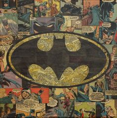 This Batman comic book collage looks awesome! Bravo ~MikeAlcantara!  For years I thought this logo was teeth and tonsils.