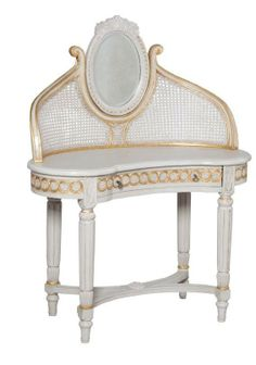 Somerset Vanity Table     white with pale trim