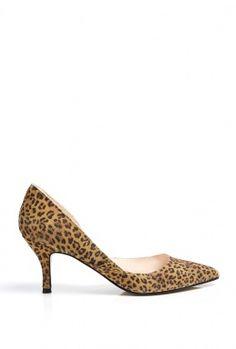 Leopard Print Mid Heel Shoe By Ganni