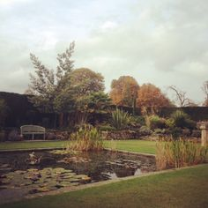 The Sunken Garden in the middle of the Italian Gardens - Hever Castle, Kent