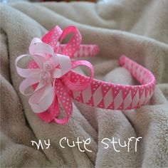Pink Grosgrain Ribbon Headband