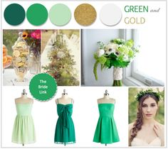 Green, White, and Gold Wedding Inspiration | http://www.thebridelink.com/blog/2013/06/10/green-white-and-gold-wedding-inspiration/