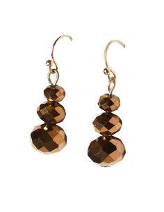 Bronze Bead Drop Earring