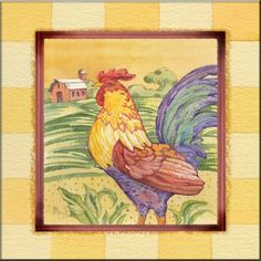 Farmhouse Rooster - Accent Tile