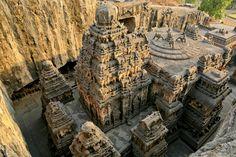 Kailasha temple at ellora, India,