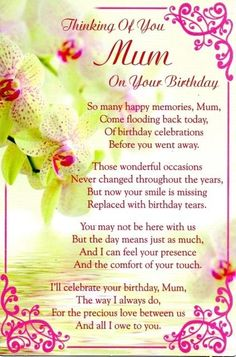 Picture 27 of 35 Birthday Wishes For Mum, Happy Birthday Mom Images, Birthday Wishes In Heaven, Happy Birthday Mom From Daughter, Happy Birthday Quotes For Her, Happy Heavenly Birthday, Birthday Wishes For Mother, Birthday Poems, Mum Birthday