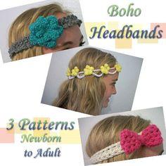 Crochet Pattern  Boho Headbands by SiennaSews on Etsy