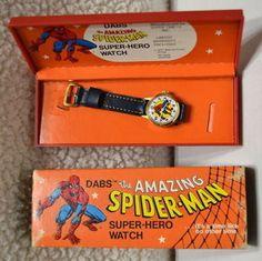 AMAZING SPIDER-MAN Childs WATCH DABS 1977 Vintage Marvel MIB w Slipcase Amazing Spider, Spiderman, Marvel, Watches, Superhero, Children, Vintage, Spider Man, Young Children